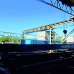 Кран мостовой опорный г/п 3,2 т пролет 17 м (несущая балка)