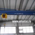 Кран мостовой электрический однобалочный опроный г/п 10 т, трубная конструкция