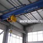 Кран мостовой однобалочный г/п 10 т (радиоуправление, двухбарабанная таль 2ТЭ10000))